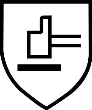 O ochronie przed czynnikami mechanicznymi niemierzalnymi informuje nas taki piktogram.