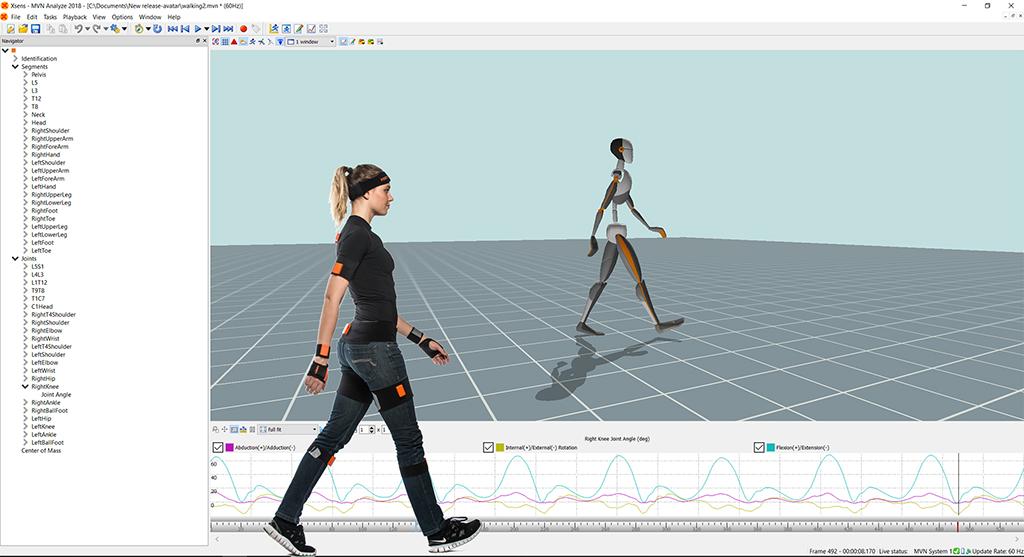 System motion capture - czujniki i oprogramowanie.